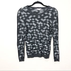 Surface to Air Pattern Knit Crewneck  Sweater
